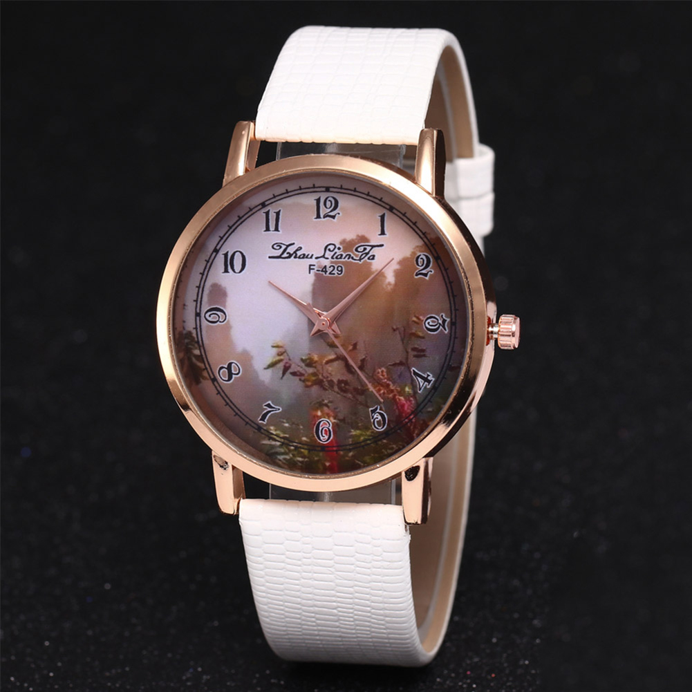 Retro Style Couple Watches Leather Watch Band Round Dial Fashion Quartz Watches Students Casual Watches  LL@17