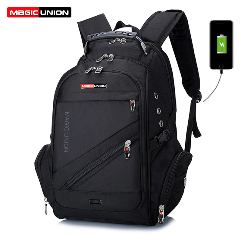 MAGIC UNION Hot Sale Men's Travel Bag Man Swiss Backpack Polyester Bags Waterproof Anti Theft Backpack Laptop Bag Men