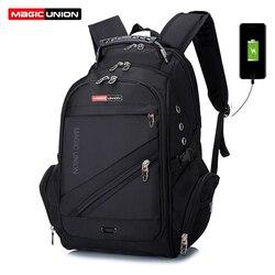 MAGIC UNION gran oferta bolsa de viaje para hombre mochila suiza para hombre bolsas de poliéster impermeable antirrobo mochila para ordenador portátil para hombre