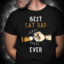 Best Cat Dad Ever Cat Lovers Father's Day Gift T Shirt Black