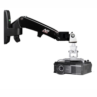 DL-F120PR3 universal projector wall mount stand gas spring  1-6kg with projector hook tray 3 holes 4 holes