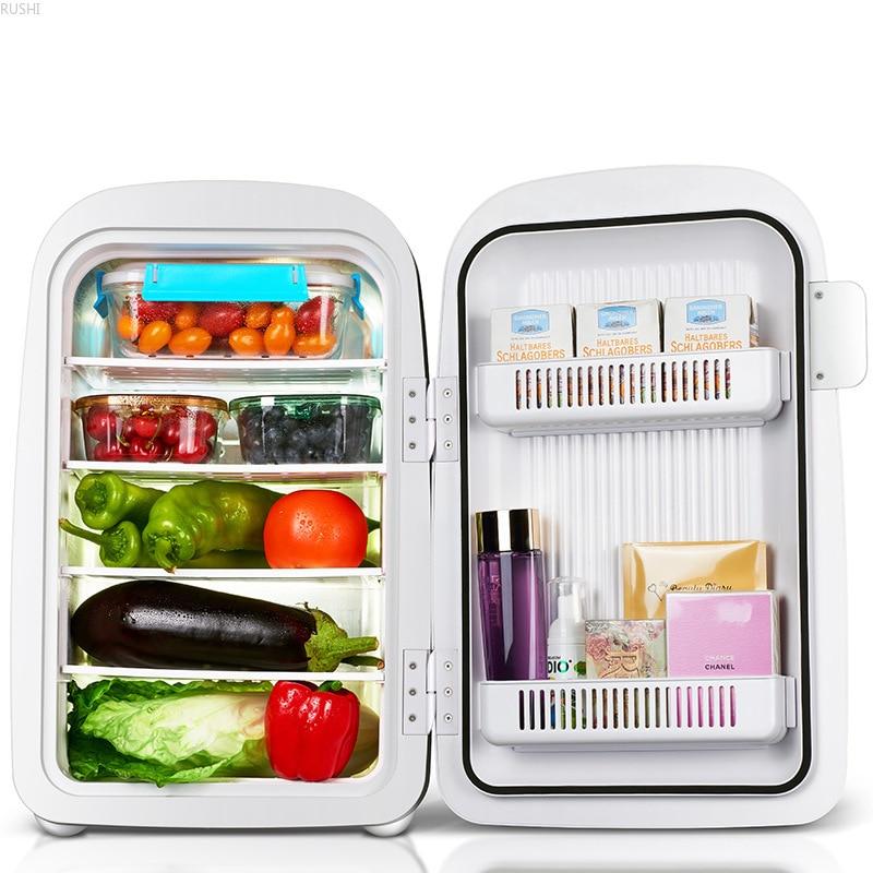 Single Door Refrigerator Cosmetics Facial Mask Refrigerator Car Home Dual-use  Small Refrigerator Portable Fridge Camping