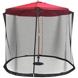 Sombrilla de Patio mosquitera pantalla de malla con cremallera para sombrillas mesas de Patio K888