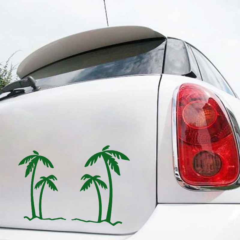 EmpireYing 3 Størrelser 8 farver Palm Tree Tropics Grafisk - Udvendigt biltilbehør - Foto 2