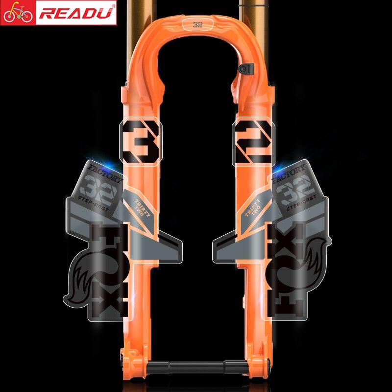 2021 fox flotteur usine 32 VTT avant fourche autocollants vélo fox32 léger XC avant fourche décalcomanies vtt vélo décalcomanie