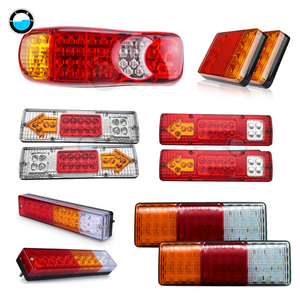2Pcs Waterproof Car 8 19 20 30 46 72LED Tail Light Rear Lamps Pair Boat Trailer 12V/24V Rear Parts For Trailer Truck Car Lighti