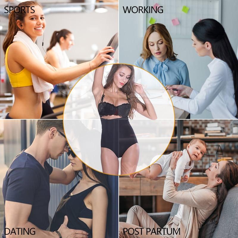 Image 5 - VASLANDA Women Butt Lifter Shapewear High Waist Cincher Briefs Body Shaper Girdle Faja Tummy Control Panties Slimming Underwear-in Control Panties from Underwear & Sleepwears