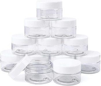 24 sztuk plastikowe okrągłe słoiki do przechowywania s pojemniki kosmetyczne słoiki z zakrętkami dla słoiki do przechowywania DIY Slime co pojemniki próbkowe 1OZ tanie i dobre opinie CN (pochodzenie) COMBO Butelki wielokrotnego użytku BL503 6Pcs 12Pcs 24