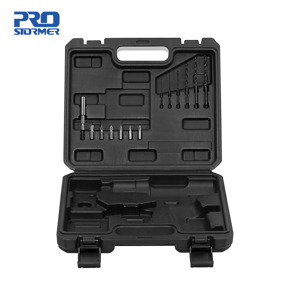 PROSTORMER BMC Plastic Box Tool Case For 12V Cordless Drill/Screwdriver/Wrench Include 13 Screwdriver Bits Not Include Drill