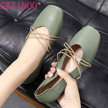 GKTINOO 2020 Women Shoes Woman Genuine Leather Flat