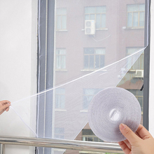 Lato samoprzylepne okno na komary ekrany niewidoczne ekrany DIY moskitiera z 5 6m magiczna taśma tanie tanio Hook Loop Zapięcie window mesh Włókno poliestrowe