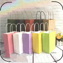 Paper Bags Custom-Logo Large 5pcs with Handles Need 200ppcs Festival Small Festival