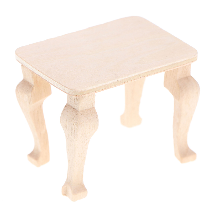 1pc Mini Wooden Table Furniture Toys 1:12 Dollhouse Miniature Accessories DIY Doll House Decor Baby Toys