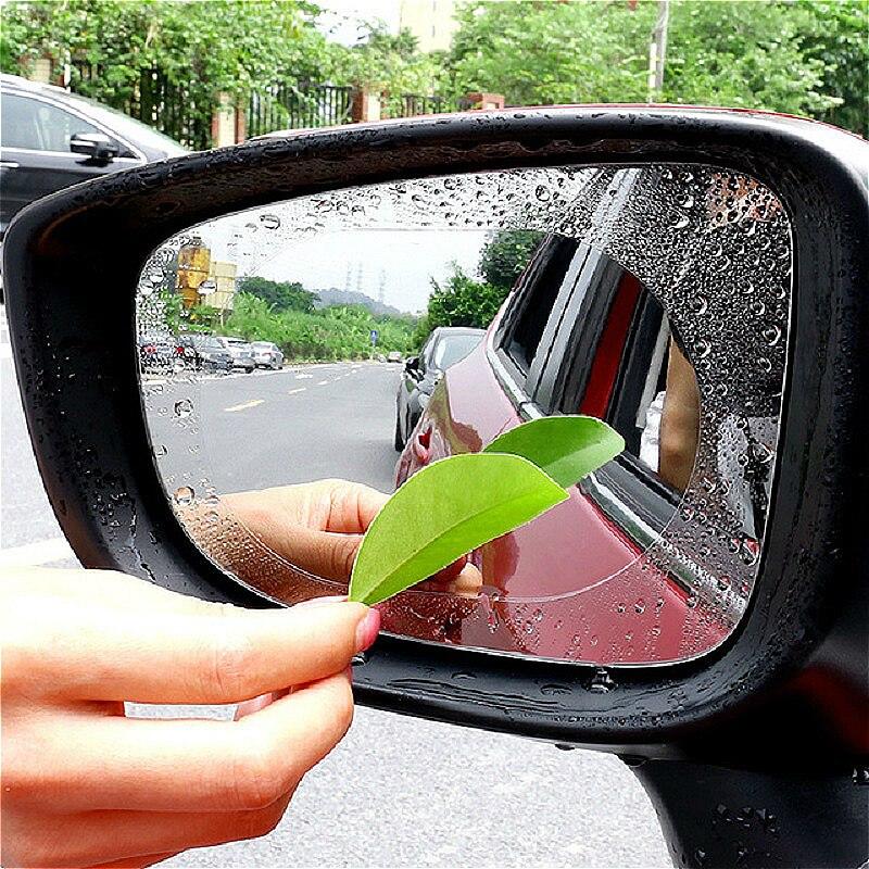 Автомобильная стеклянная противотуманная и непромокаемая пленка автомобильная наклейка на зеркало заднего вида модификация для BMW Audi ...