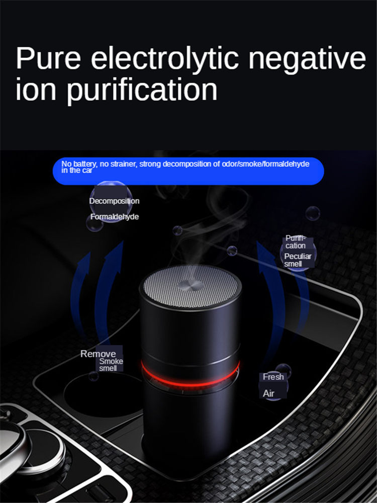 E-FOUR Car Air Purifier with True HEPA Filter Filtration System Cleaner with Touch Panel Quiet in Bedroom for Car Home Smokers image