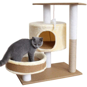 Cat Climbing Frame Tree Condo Furniture Activity CatsTower Sisal Scratching Post Pet Scratcher Board Kitty Play House For Kitten