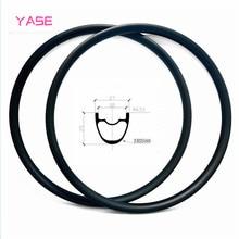 YASE 29er carbon mtb disc rim 27x25mm symmetry tubeless bicycle wheel carbon disc mtb rims ERD 588mm 370g