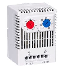 Small compact adjustable temperature controller Switch ZR011  dual thermostat connecting heater fan for cabinet ZR 011