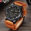 CURREN Модные Роскошные часы мужские военные кварцевые часы мужские s часы брендовые кожаные спортивные Бизнес наручные часы Дата Reloj Hombre