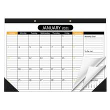 2021-2022 kalendarz biurkowy 2 lata miesięczny terminarz 2021 kalendarz biurko dekoracja ścienna Memo dzienny harmonogram Agenda organizator Office