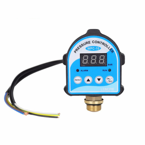 """Russian Pressure Control Switch Digital LED Display Water Pump G1/4"""" G3/8"""" G1/2"""" WPC-10 Eletronic Controller Sensor With Adapter(China)"""