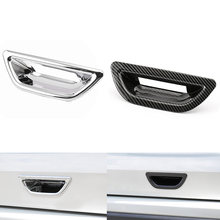 1 pcs car rear trunk tail door bowl cover trim chrome/carbon