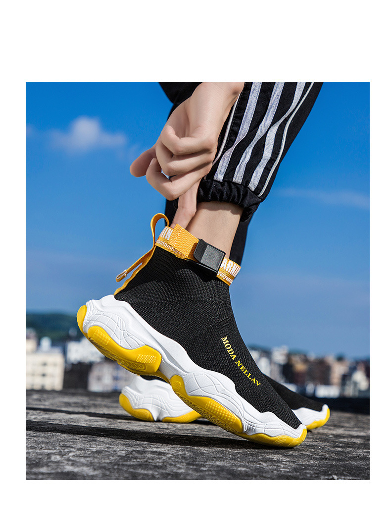 2019 New Sport Athletic Running Shoes Men Brand Sock Sneakers Lace-Up Breathable Jogging Trainers Male Boy Cool Walking Footwear 41