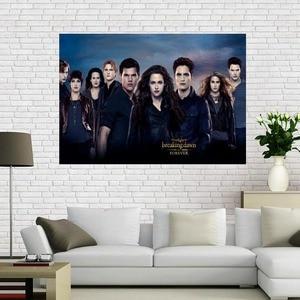 O crepúsculo saga breaking dawn cartaz da lona decoração para casa pano parede cartaz impressão de tecido de seda 50x75cm60x90cm