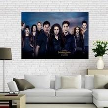 Canvas Poster Twilight Saga Home-Decoration Dawn Silk Print 50x75cm60x90cm Cloth-Fabric