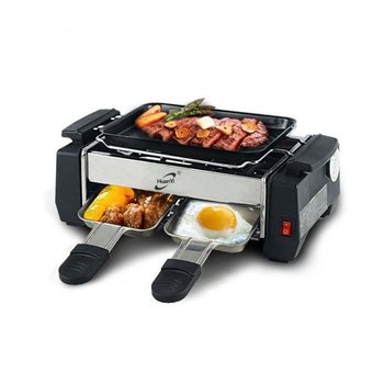 1000W High Power Non-stick Family Barbecue Electric Raclette Grill Smokeless Grill Raclette Pan Electric Griddle