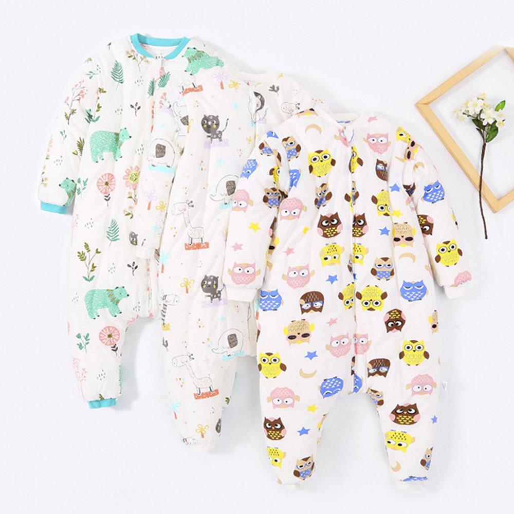 Image 2 - Baby Split Leg Sleep Bag Thick Winter Warm Anti Tipi 0 24M ChildrenS Sleeping Bag Cute Animal Printed Free Gifts Shoe CoverSleepsacks   -