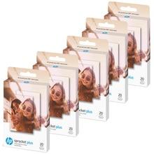Zink 20 hojas/caja de papel fotográfico para impresoras HP Sprocket Plus, 5,8x8,7 cm (2,3x3, 4 pulgadas), estampado y portátil