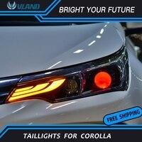 LED Strip Headlights for Toyota Corolla Altis Headlight 2017 2019 DRL HID Bi Xenon Projector Len