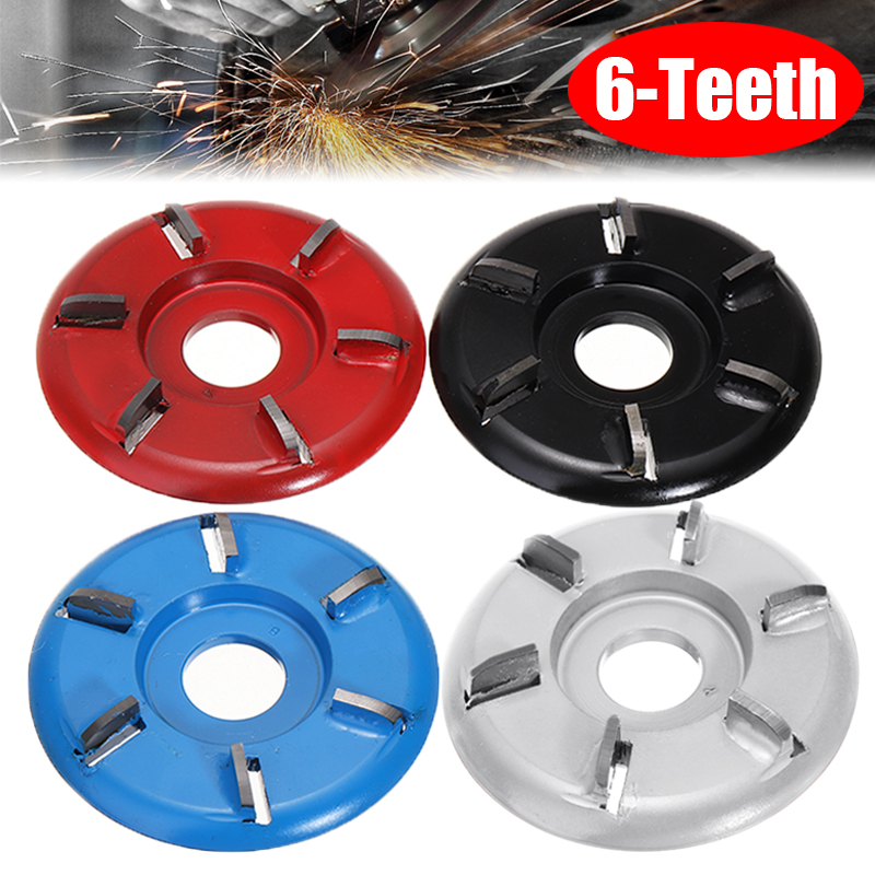 90mm Diameter 22mm Bore Six Teeth Woodworking Turbo Tea Tray Wood Carving Disc Plane Tool Milling Cutter For Angle Grinder