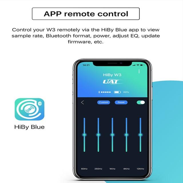 HiBy W3 USB DAC 3.5mm Portable Wireless Bluetooth Headphone Amplifier receiver AK4377 UAT APTX HD LDAC Noise Reduction 3