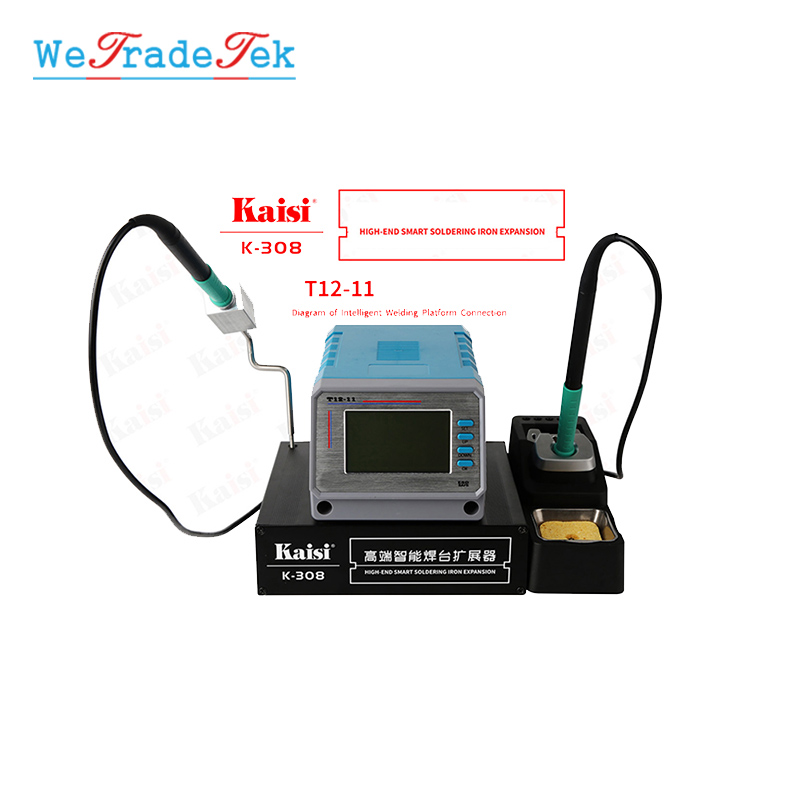 Kaisi K-308 Soldering Iron Head Extension Platform Duel Work General Maintenance Box for JBC UD1200 T12 Soldering Station
