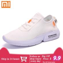Xiaomi Lycra Sneakers Man Popcorn Sole Zapatillas Hombre Light Jogging Shoes Bre
