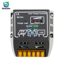 20A DC 12V 24V Auto Solar Charge Controller Regulator Panel Cell Battery Charging