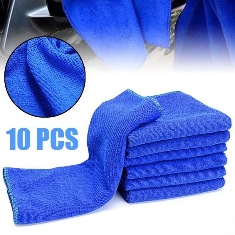 10 pces microfibra limpeza auto pano macio pano de lavagem toalha espanador 30x30cm carro casa limpeza micro fibra toalhas pano