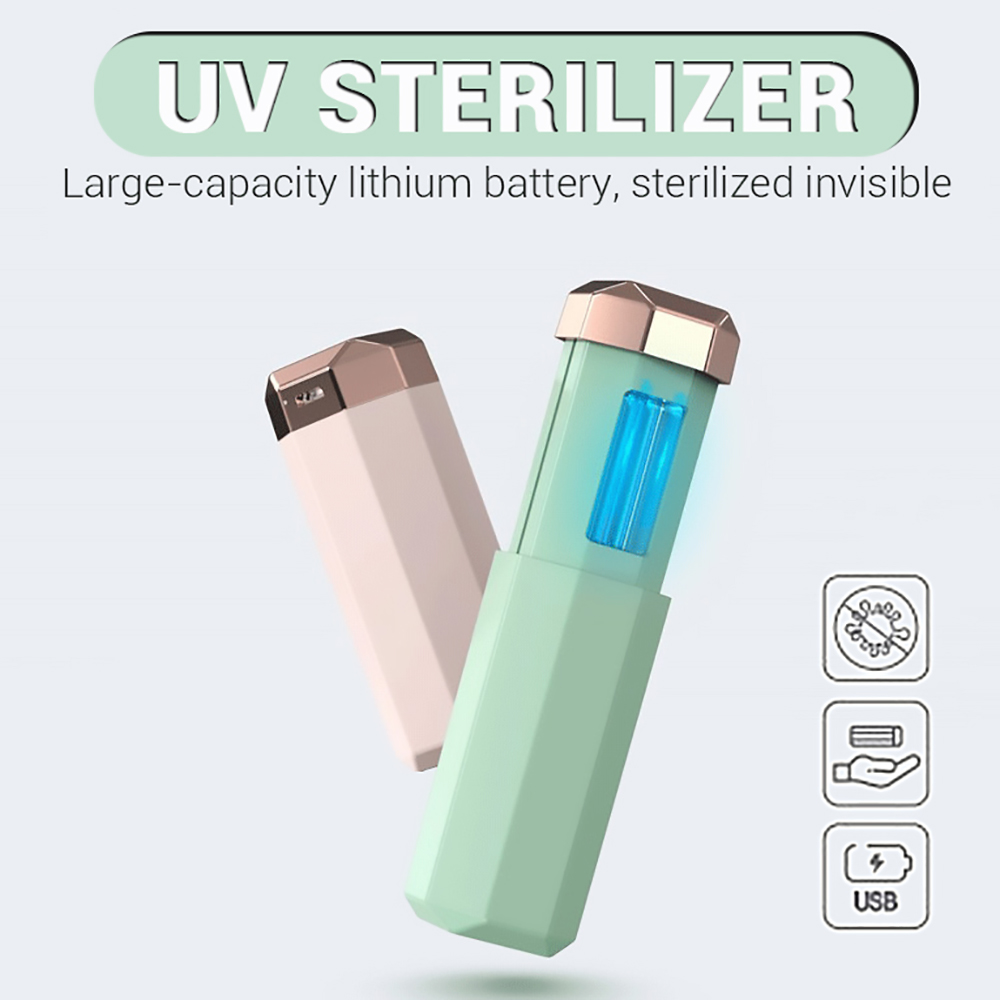 Portable UV Sterilizer Lamp USB Mini UVC Handheld Ultraviolet Germicidal Lamp Disinfection Travel UV Light Sanitizer Light Rod