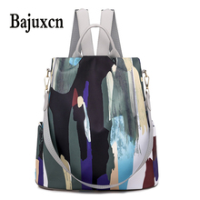 Simple style ladies backpack anti theft Oxford cloth tarpaulin stitching sequins juvenile college bag purse Bagpack Mochila