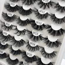 Rainsin 1 Pair 25 mm Fluffy Mink Eyelashes With Box Dramatic Messy Long 25mm 3d Mink False Eyelashes Makeup Wholesale Lashes