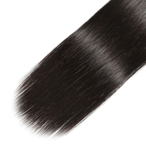 Image 5 - Panse Hair Malaysian Hair Human Hair Extensions Straight Hair Customized 8 30 Inches Non Remy Can be Dye Color 1B 1PCS Per Lot