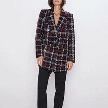 Autumn winter Women's suit casual vintage chic coat tweed jacket female double b
