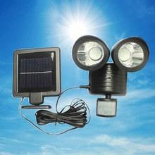 Solar dupla cabeça sensor de luz dupla cabeça ao ar livre à prova d22água 22led jardim paisagem luz da porta