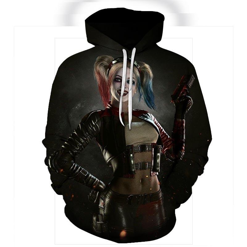 New Suicide Squad Joker Harley Quinn 3D Print Sweatshirt Men Women Funny Hoodies Cool Lovers Streetwear Casual Pullovers