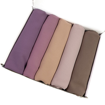 2M good stitching stitch plain high quality premium heavy Chiffon hijab scarf Malaysian Women s