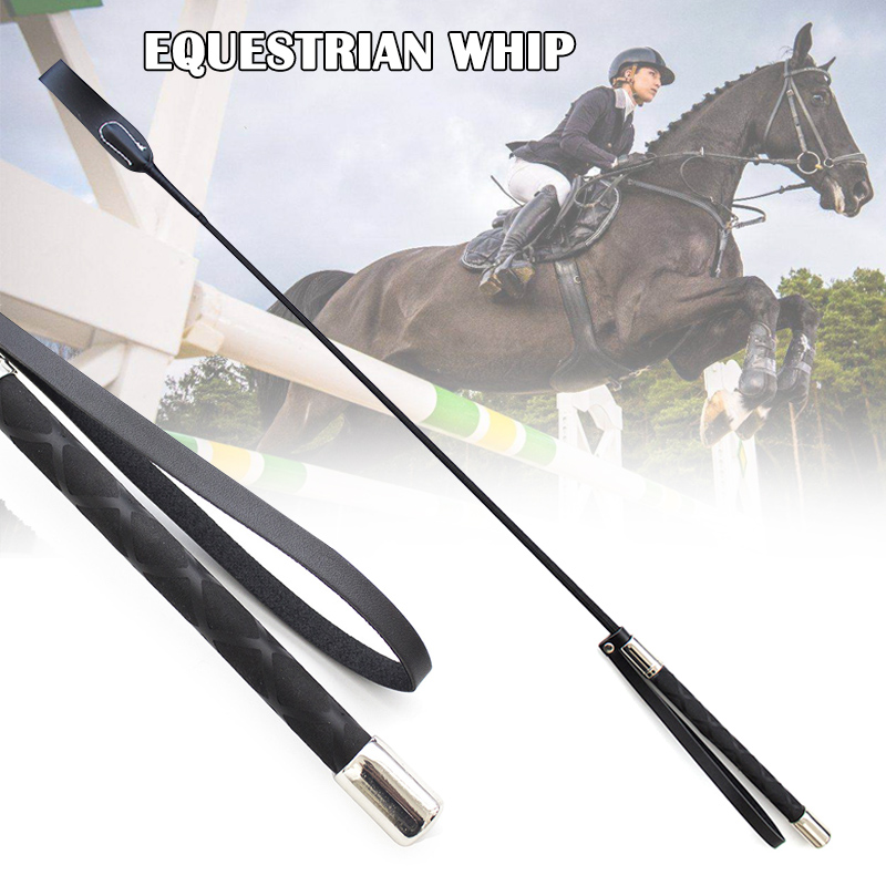 51cm Leather Horsewhips Equestrian Horseback Riding Whips Lash Supplies Portable Lightweight More Durable Horse Training Whip