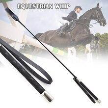 Chicote de couro questrio para cavalo 51cm, suprimentos portáteis leves e duráveis para treinamento de cavalo