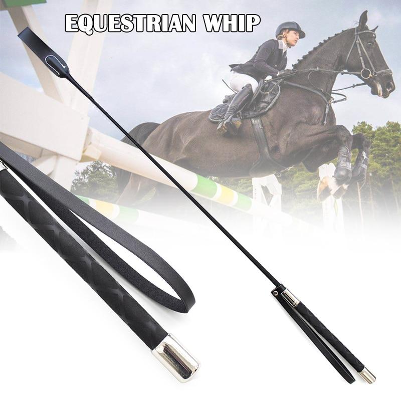 51cm de couro horsewhips equestre equitação chicotes chicote suprimentos portátil leve mais durável treinamento cavalo chicote